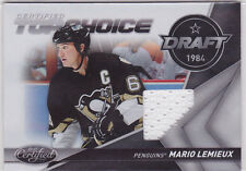 2010 10-11 Certified Top Choice Materials #12 Mario Lemieux 38/99 jersey