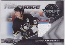 2010 10-11 Certified Top Choice Materials #12 Mario Lemieux 38/99 jersey