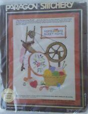 "Vintage 1982 Paragon Needlecraft Stitchery ""The Old Spinning Wheel"" #0944 NIP"