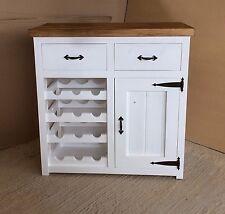 Solid Handmade Pine Sideboard, 2 Drawer, Wine Rack, Storage Dresser, Rustic