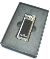 Erik Stokkebye 4th Generation Pipe Soft Flame Lighter Chrome Black Classic Style