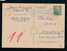 93141) OWL> Landpost Ra2 21 Ahlsen über Löhne /(Westf) , GA 1956
