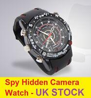 8GB HIDDEN SPY CAM WRIST WATCH Waterproof Mini Video Recorder Camera Webcam DVR