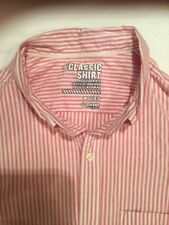 Pink and White, Size Large, Old Navy Brand, Long Sleeve Men's Shirt, 16 1/2 X 36