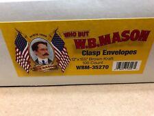 "New listing Size # 110 Brown Kraft Clasp Envelopes 28 lb 12""x15-1/2"" Wmb-35270 56026 Nib Fs"
