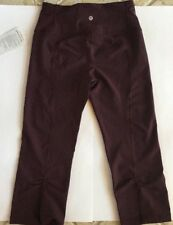 New Lululemon Women's Work Out Gather and Grow Crop Stretch Size 6 Dark Purple