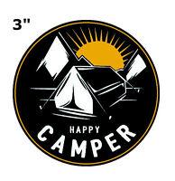 """Car Truck Window Bumper Sticker Decal Souvenir Happy Camper 3/"""""""