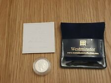 2005 Royal Mint Silver Proof Menai Straits Bridge £1 Coin Pouch & COA