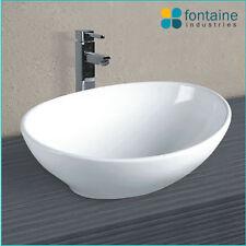 Omega Above Counter Basin Bathroom Ceramic Elegant Unique Soft Shape Sink Bowl