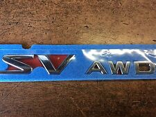 "NEW OEM NISSAN 2008-2014 MURANO  REAR ""SV AWD"" EMBLEM FOR REAR GATE"