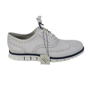 Cole Haan Zerogrand Wingtip OxfordMen's Leather Shoes Size 8.5 White C32123