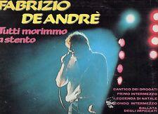 FABRIZIO DE ANDRE disco LP 33 giri TUTTI MORIMMO A STENTO serie Orizzonte