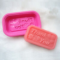 DIY Thank You Cake Mold Soap Mould Silicone Biscuit Mold Chocolat Molds Candy