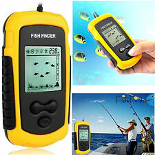 FishFinder 100M Lcd Alarm Sonar Depth Sensor Portable For Sea Boat River Fishing