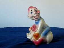 "VERY RARE ""HOWDY DOODY BANK"" GLAZED CERAMIC PIGGY BANK"