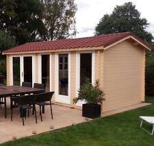 4.8m x 3m/ 40mm Log Cabin/ Ideal for Garden Office/Gym