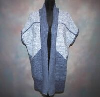 Gap Women's Cardigan Sweater Size Small Short Sleeve Open Front Blue Cotton EUC!