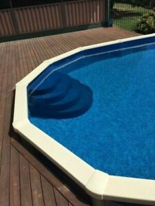 Wedding Cake Steps for Above Ground Pool