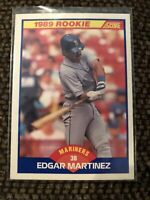 1989 Score Edgar Martinez #637 RC Rookie Card Mariners HOF in Excellent Cond!!