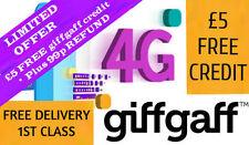 Giffgaff Nano/Micro/Standard 3 in 1 SIM FREE £5 Credit : Unlimited Data & Text