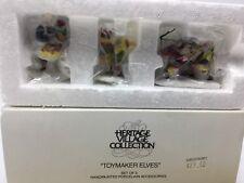Department 56 Toy Maker Elves Set 3 Heritage Collection North Pole Elf 56022