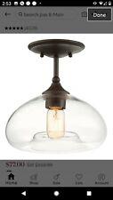 Pair of Semi-flush ceiling light fixtures, oil rubbed bronze.