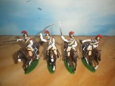 Napoleonic Cavalry French Carabiniers 1/32 scale - Well Plastic painted-4 pieces