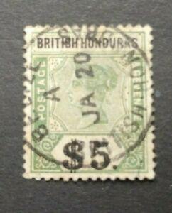 CLASSIC $5 VF USED GB UK BRITISH HONDURAS B400.1 START $0.99