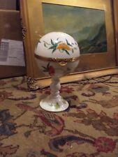 Floral 'Pedestal de Raynaud y co. Limoges Caja de la baratija-no es perfecto