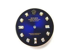 Rolex Mens Datejust Two Tone Blue Vignette Color with 8+2 Diamond Dials