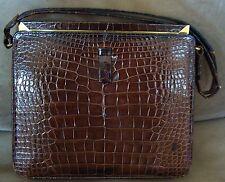 LUCILLE DE PARIS Original Alligator Handbag Purse Bag Satchel Reptile Vintage