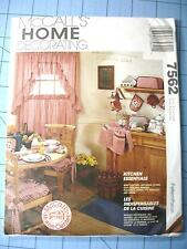 1995 McCalls Kitchen Essentials Pattern-Uncut-#7562-Cushions/Apron/Curtains++++