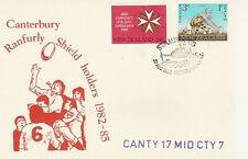 31.8.85 CANTERBURY v MID CANTERBURY RANFURLY SHIELD RUGBY COMMEMORATIVE COVER