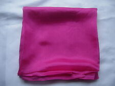 Brand New 100%  Silk  Scarf Wrap Hot Pink