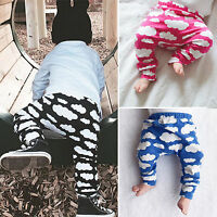 Toddler Kids Baby Boys Cloud Printed Long Harem Pants Trousers Casual Leggings