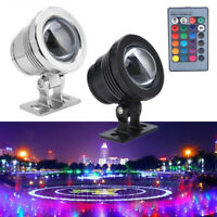 20W 10W RGB LED Light Fountain Pool Pond Spotlight Underwater IP65 Lamp Remote F