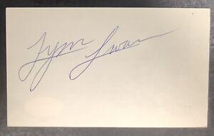 Lynn Swann Signed Index Card Football HOF Autograph Steelers Super Bowl JSA