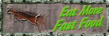 """Rivers Edge Products 10.5"""" x 3.5"""" Tin Sign Eat More Fast Food"""