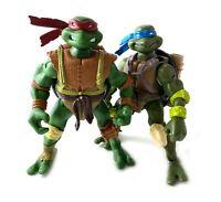 Paleo Patrol Raph & Leo Vintage TMNT Ninja Turtles Figures Lot 2003 Playmates