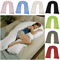 Full 9/12Ft Comfort Body Support Nursing Maternity Pregnancy U Pillowcase Only
