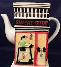Storefront Msrf Side 1 Sweat Shop Side 2 Just Desserts Thin Coffee Or Tea Pot