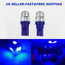 NEW 2X T10 blue Wedge 12V Super Bright 5730 SMD 194 168 2825 LED Light Bulbs
