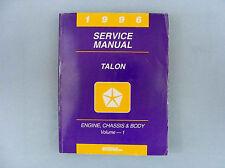 Service Manual, 1996 Eagle Talon, Engine/Chassis/Body, Volume 1, 81-270-6500