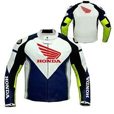 HONDA Motorcycle Leather Jacket Motorbike Racing Jacket,TITANIUM ARMOUR(Replica)