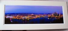 "Skyline Picture...Pittsburgh,PA~~Panorama~Matted ~32 1/4""long x 13 1/2""high"