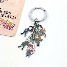 Axis Power Hetalia APH Toy KeyChain Cosplay Key Chain Hanging Drop Doll