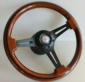 Steering Wheel fits Mercedes Benz Wood  W123 W124 W126 W201 R107 1978-1992