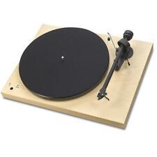 PRO-JECT Plattenspieler Debut III 3 RecordMaster Ahorn furniert + Ortofon OM10