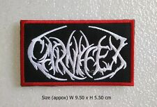 Patch Carnifex embroidered sew iron on logo deathcore rock band music DIY