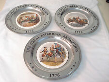 1976 Williamsport Foundry Bicentennial Collection PEWTER Plates in Shipping Box